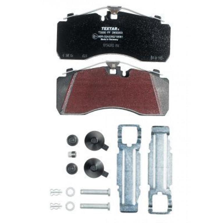 Колодки тормозные IVECO MAN MERCEDES (без выточки под датчик АБС) дисковые (211x93x30) (4шт.) TEXTAR