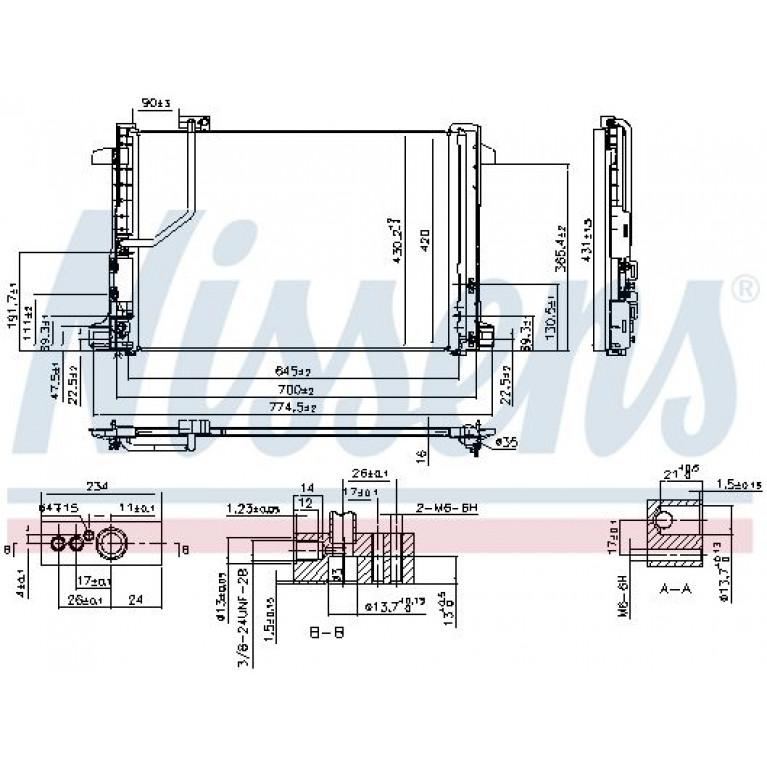 Конденсер MB W204/W212 1.8-6.2 07- NISSENS