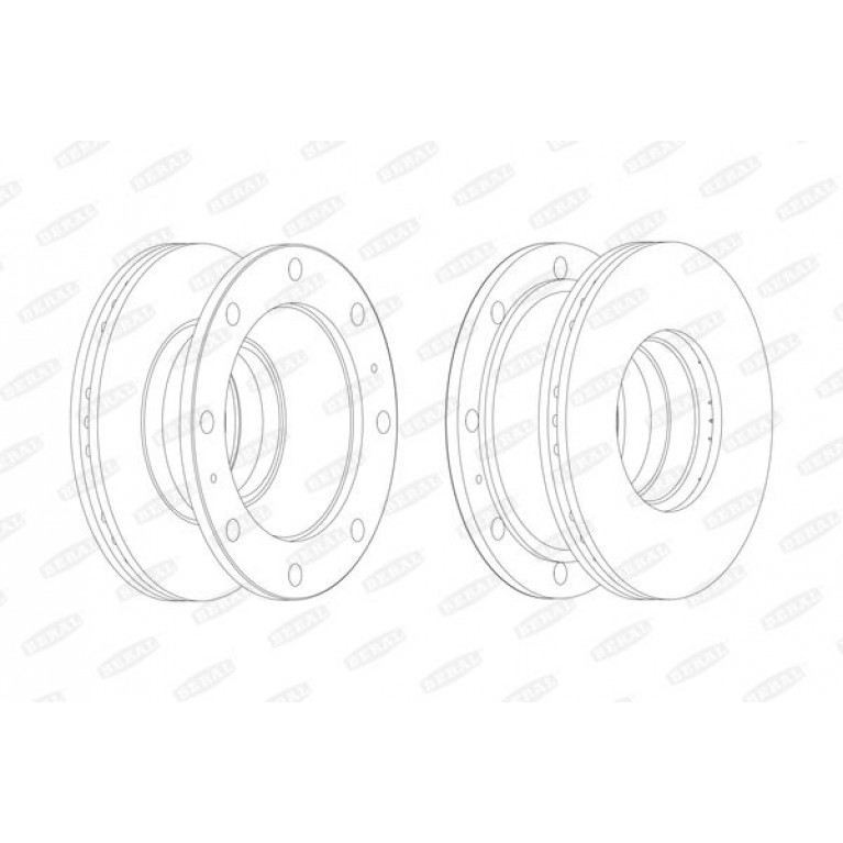 Диск тормозной Iveco 322*30*134