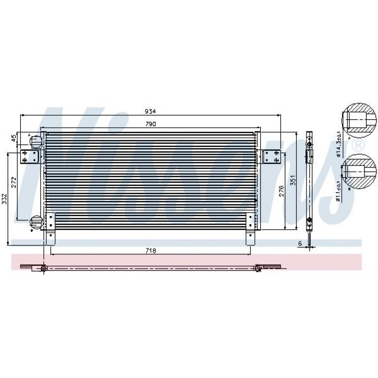 Радиатор кондиционера MAN TGA (00-) NISSENS