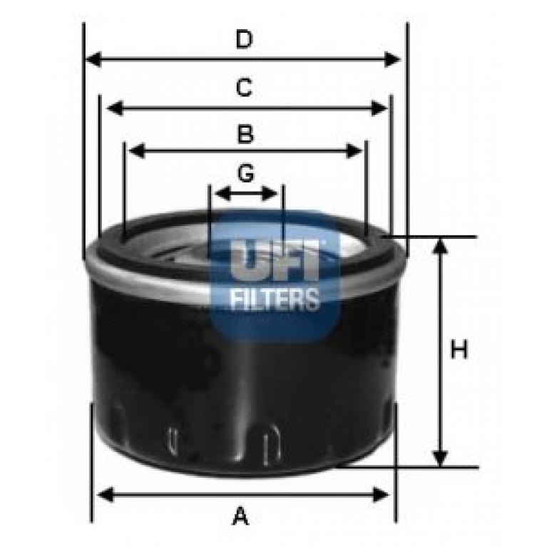 фильтр масляный! \ Opel Ascona/Astra/Omega/Kadett/Vectra 1.3-3.0i 85 23.129.02 UFI