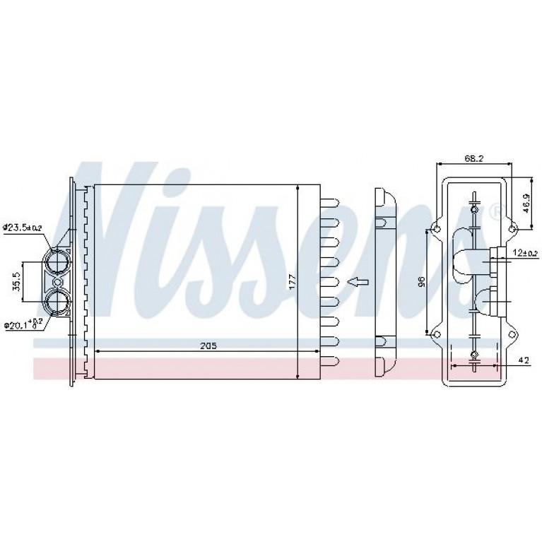 Радиатор отопителя OPEL Vectra B (95-02) NISSENS
