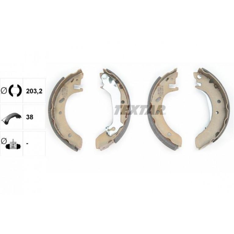 Колодки тормозные FORD Mondeo (93-00) задние барабанные (4шт.) TEXTAR