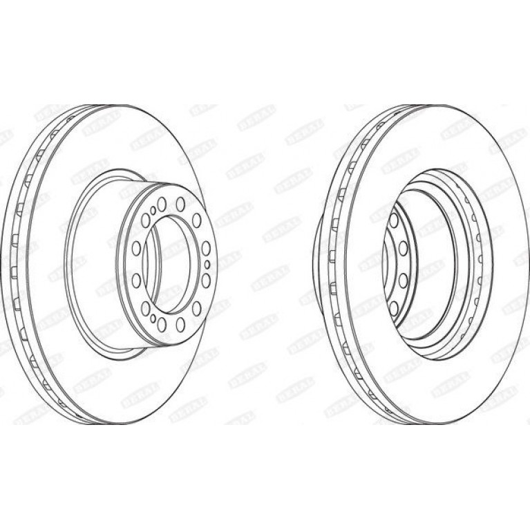 диск тормозной 430мм