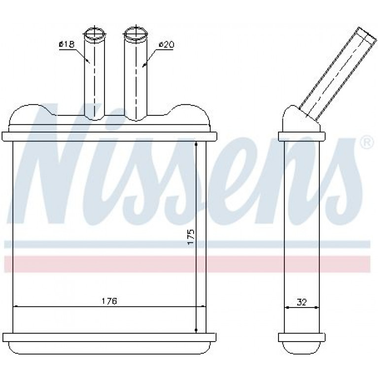Радиатор отопителя CHEVROLET Lanos (97-02) NISSENS