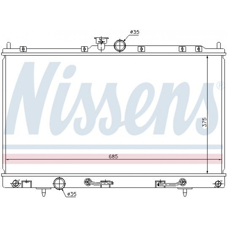 Радиатор MITSUBISHI Lancer 9 NISSENS