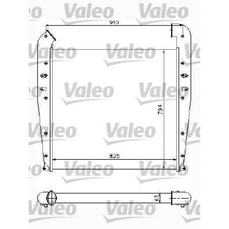 Интеркулер SCANIA 4 Series (825х794х63) VALEO