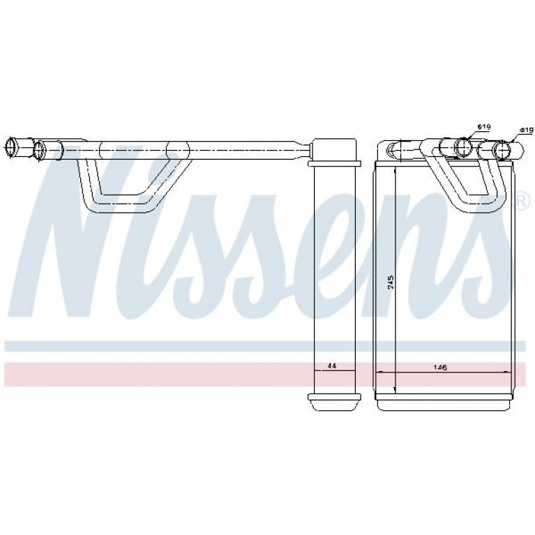 Радиатор отопителя NISSAN MURANO 3.5 / NAVARA/PATHFINDER 2.5D 04- NISSENS