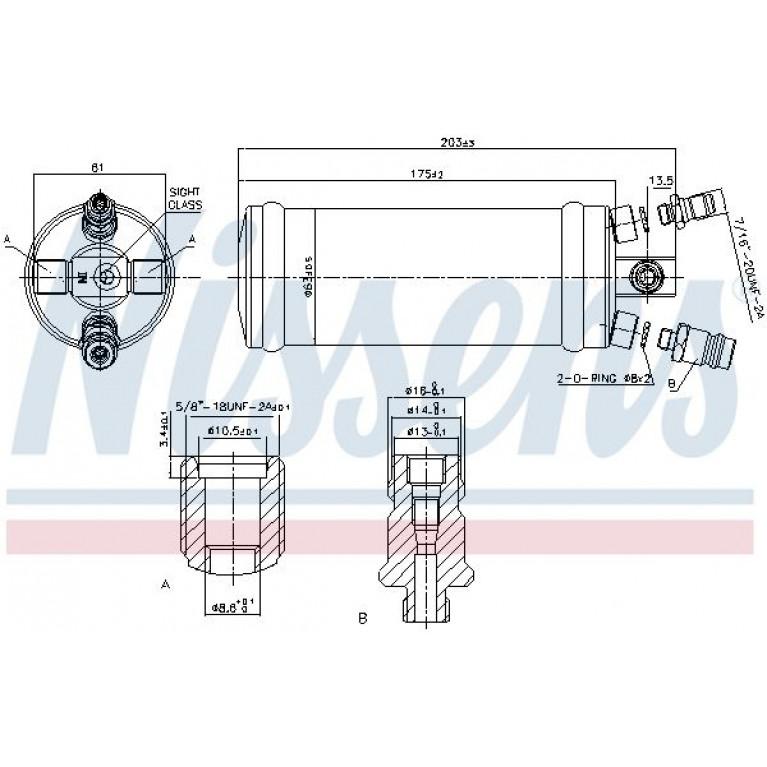 Осушитель кондиционера DAF 65/75/85CF Nissens 203x63
