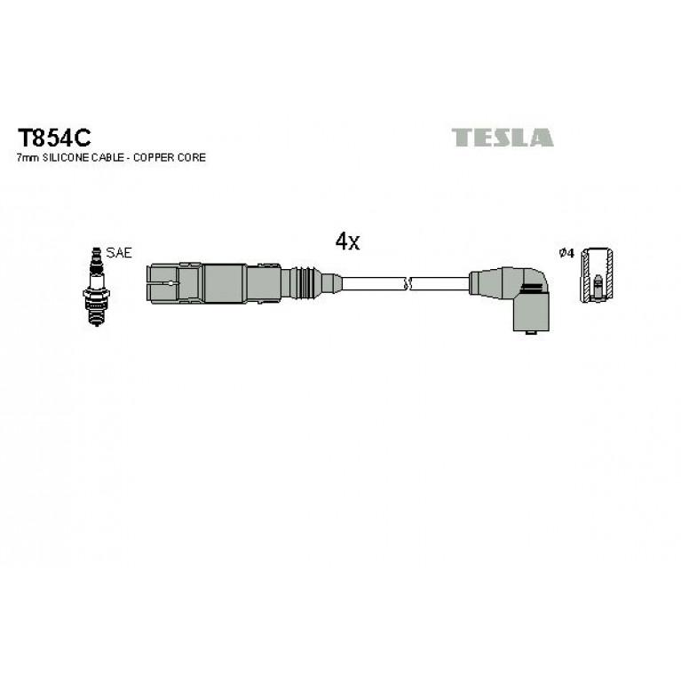 Провод высоковольтный AUDI A4,A6 (94-) (1.6/2.0) комплект TESLA