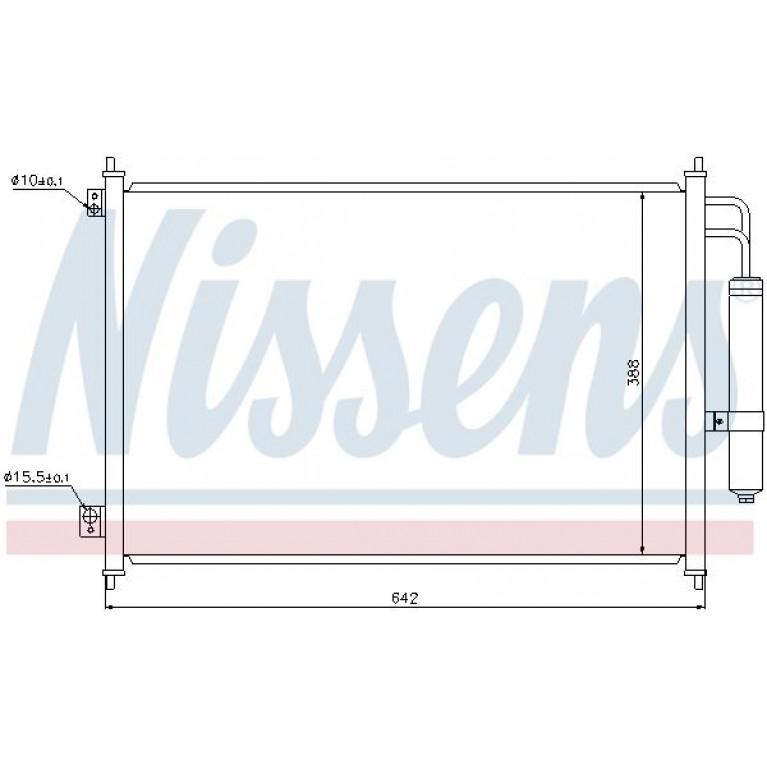 Радиатор кондиционера NISSAN X-Trail (T31) NISSENS