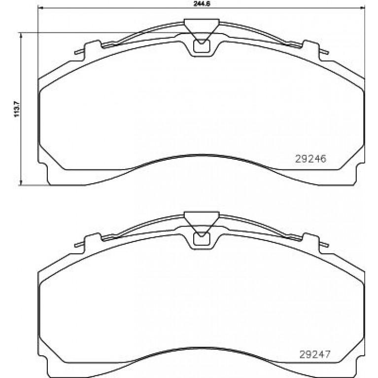 Колодки тормозные MERCEDES Actros дисковые (245x114x35) (4шт.) TEXTAR