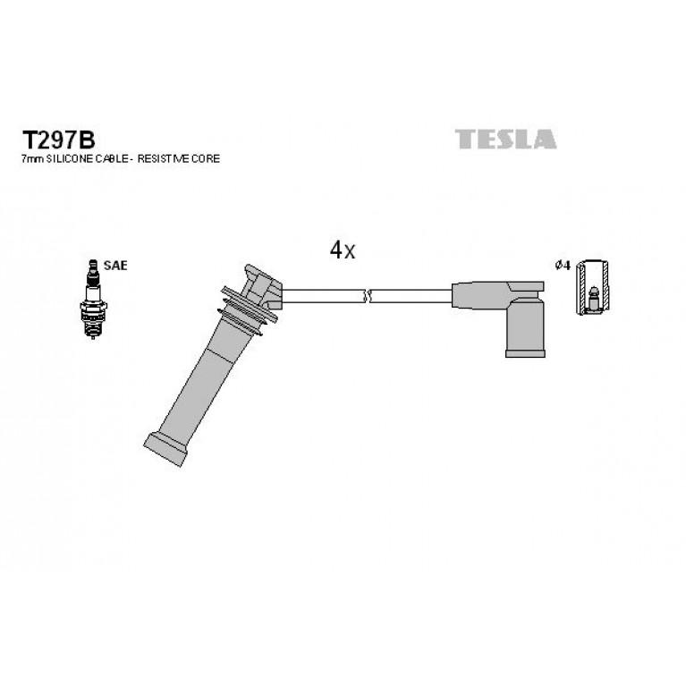 Провод высоковольтный MAZDA 6 комплект TESLA