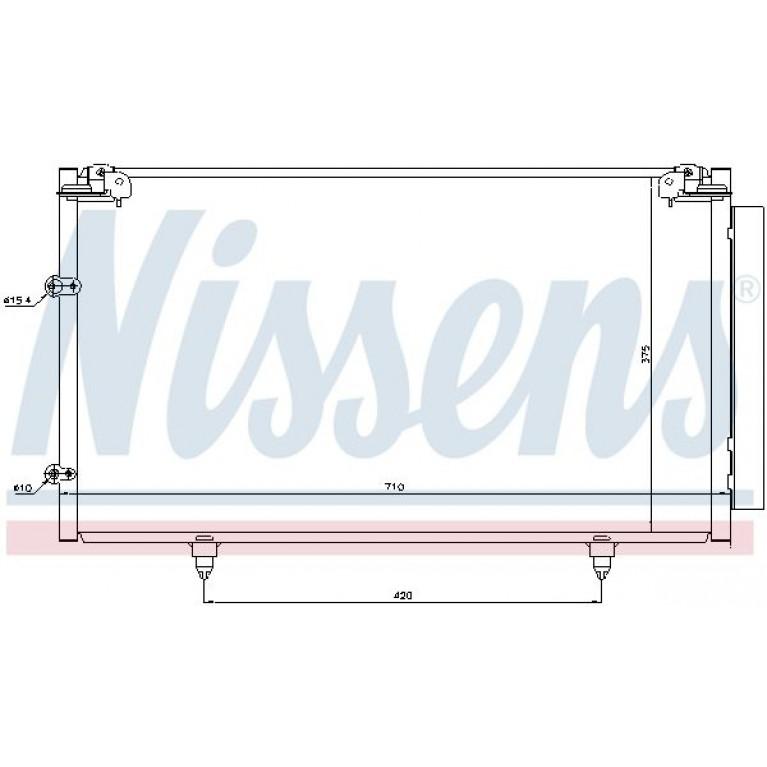 Радиатор кондиционера TOYOTA Camry (01-06) NISSENS